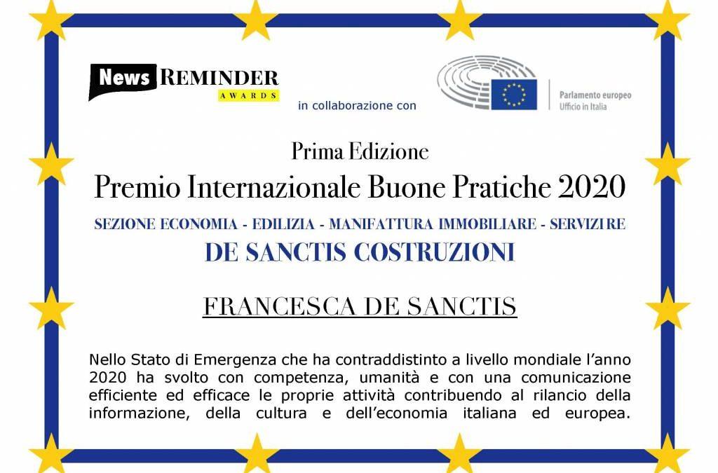 Premio Internazionale Buone Pratiche 2020